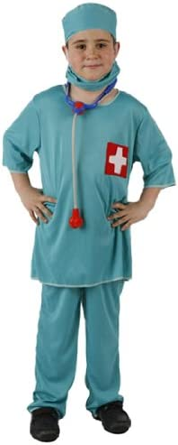 Atosa-95772 Médico Disfraz Doctor, color celeste, 5 a 6 años ...