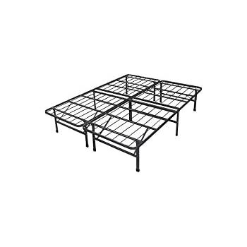 spa sensations steel smart base bed frame black multiple sizes 14 inches high. Black Bedroom Furniture Sets. Home Design Ideas