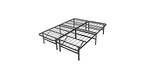 Spa Sensations Steel Smart Base Bed Frame Black, Multiple Sizes. 14 Inches High. Steel Bed Foundation with a Black Finish. Provides Level Support for Mattress for Ultimate Sleep Comfort. Flat, Rigid Surface Protects Mattress. Easy Assembly Without Tools. (Queen)