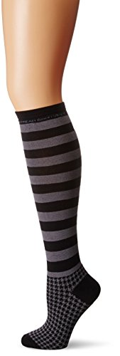 Life is good Women's Knee Houndstooth Sock , One Size