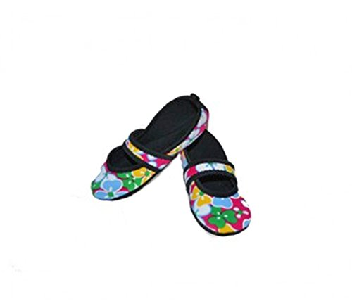 Nufoot Betsy Lou Womens Shoes, Best Foldable & Flexible Flats, Slipper Socks, Travel Slippers & Exercise Shoes, Dance Shoes, Yoga Socks, House Shoes, Indoor Slippers, Pink Dandie Dots, Large