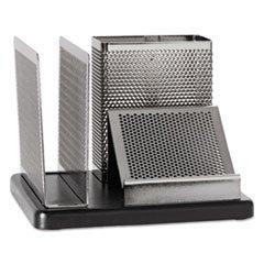 (Rolodex E23552 Distinctions Desk Organizer 5 7/8 x 5 7/8 x 4 1/2 Metal/Black )