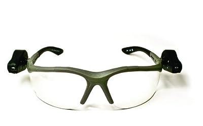 3M Light Vision 2 Protective Eyewear, 11476-00000-10 Clear Anti-Fog Lens, Gray Frame, Lights (Pack of 1)