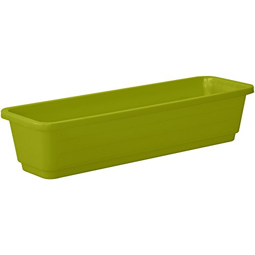 Almi Planter Window Plastic Flower Box 24-Inch Plant , Lime Green