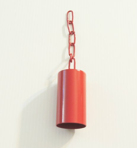 Pipe/safety Bell W/matching Chain Bird Toy Large Red