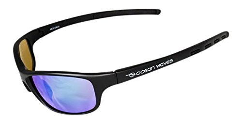 Ocean Waves Sunglasses Molokai Ocean Waves Molokai Sunglasses with Backwater Green Lenses), Black, Backwater - Sun Ocean Glasses Waves