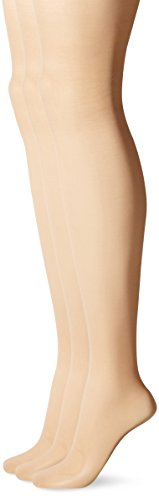 L'eggs Women's Energy 3 Pack Control Top Sheer Toe Panty Hose, Nude, B