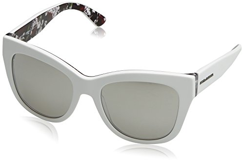 Dolce and Gabbana 4270 30236G Top White Print Rose 4270 Cats Eyes Sunglasses - Dolce Gabbana Sunglasses Rose And