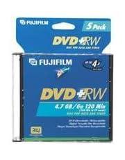 Fujifilm Media 25322075 DVD+RW 4.7GB 120 Mintes Disc 4X Jewel Storage Media - 5 Pack