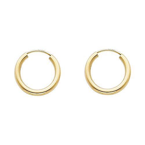 Yellow Gold Thickness Endless Earrings