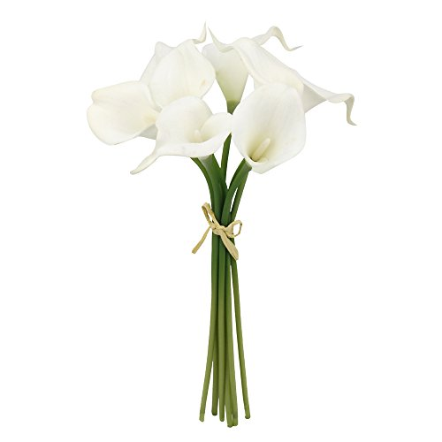 10pc set Real Touch calla lily-Feels just like real (Natural White)