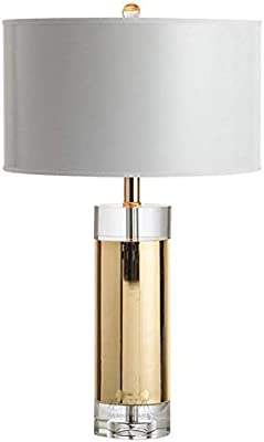 HFFFHA Luz del escritorio de metal simple de cristal de la lámpara ...