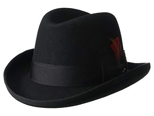 Scala Classico Men's Wool Felt Homburg Hat, Black, XX-Large ()