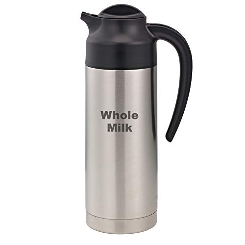Service Ideas S2SN100WHOLEET Steelvac Carafe, NSF, Stacked,