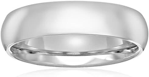 Standard Comfort Fit Platinum Wedding Band, 5mm