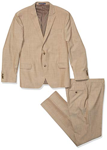Tommy Hilfiger Men's Big and Tall Slim Fit Performance Suit with Stretch, Ecru, 46L (Tommy Hilfiger Pants Men Slim)