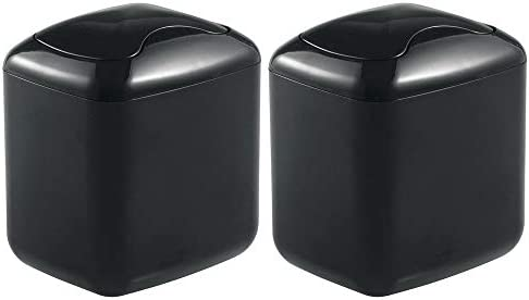 mDesign Wastebasket Dispenser Bathroom Countertop