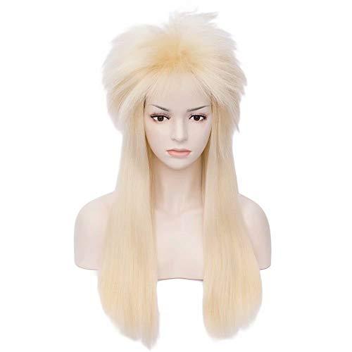 COSPLAZA Heat Resistant Blonde 26 Inches Unisex 80s