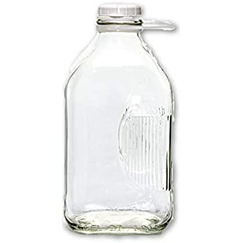Amazon.com: The Dairy Shoppe botella de vidrio para leche, 2 ...