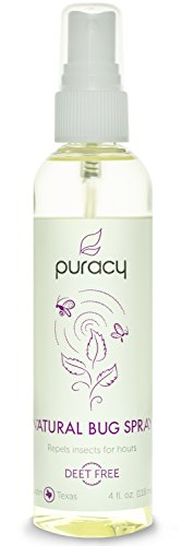 Puracy Insect Repellent, Family-Safe Natural Bug Spray, Proven to Prevent Insect Bites for Hours, 4 Ounce Spray Bottle