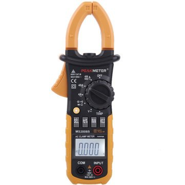 MS2008B Digital 4000 Counts Auto Range Data Hold Clamp Meter Multimeter with Backlight and Diode Continuity Test - Measurement & Analysis Instruments Digital Multimeters & Oscilloscopes