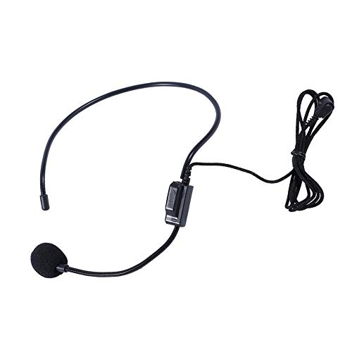 AIkong First Vocal Wired Headset Microphone microfono for Voice Amplifier Speaker Black
