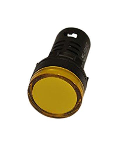 Yuco YC-22Y-3-1 European Standard TUV CE Listed LED Panel Mount Indicator Lamp AC, 220/240V, Yellow