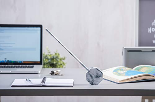 Gingko Octagon One Rechargeable Modern LED Desk Lamp Touch Sensitive White Marble ()