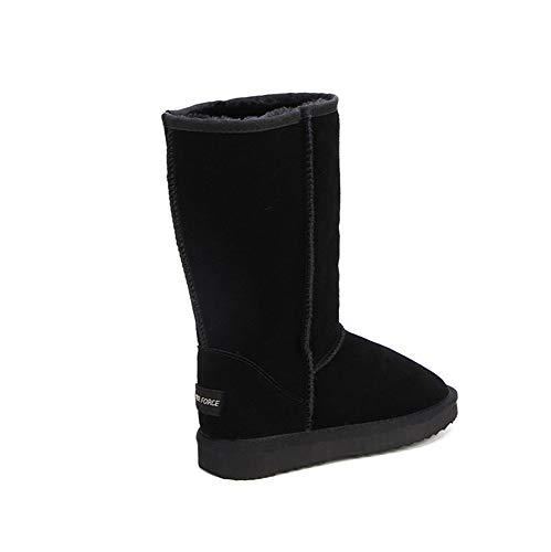 Ubeauty Neige noir Bottes Boots Cuir En Imperméables Bottine Femmes Classique De Antidérapant gqw16rPg