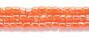3 Seed Bead - Preciosa Ornela Czech 3-Cut Style Seed Glass Bead, Size 9/0, Luster Opaque Orange