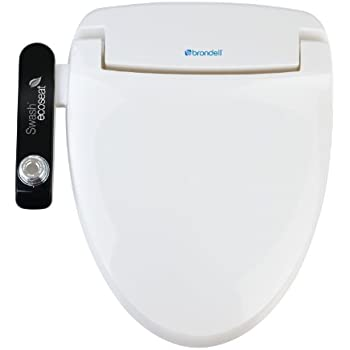 Brondell S100-EW Swash Ecoseat 100 Bidet Elongated Toilet Seat, White