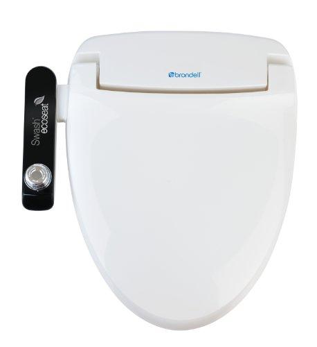 Brondell S100-EW Swash Ecoseat 100 Bidet Elongated Toilet Seat, White ()
