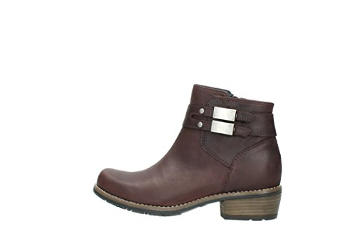 Leather Comfort Bottes 00571 nbsp;nero Wolky Oiled 50510 Burgundy 6THqHn1x