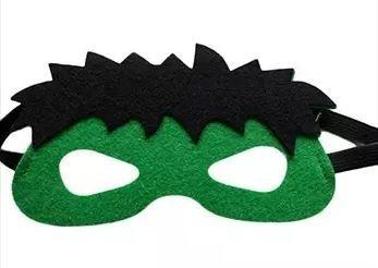 12 Pieces Superheroes Party Fun Cosplay Felt Masks for Boys Girls (GreenSmash) -