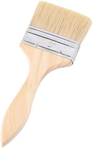 TOPBATHY 耐久性肥厚高品質のプロフェッショナル木製ハンドルブリストルブラシホーム用バーベキューを絵画のための