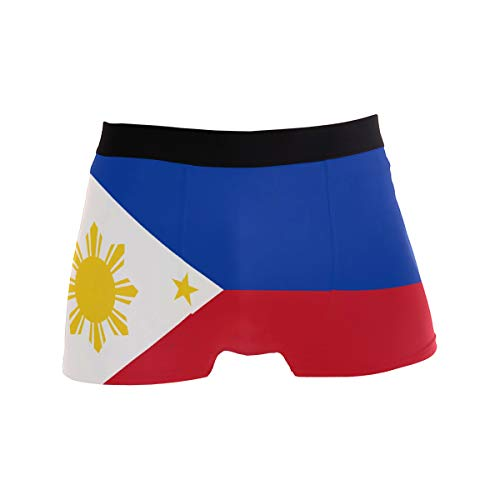 Abbylife Philippines Flag Men's Underwear Boxer Breathable Underpants Briefs M