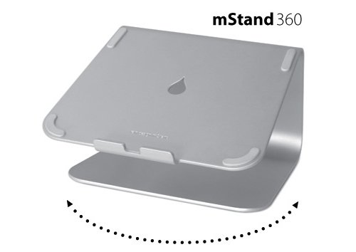 Rain Design mStand360 Laptop Stand with Swivel Base, Silver (Patented)