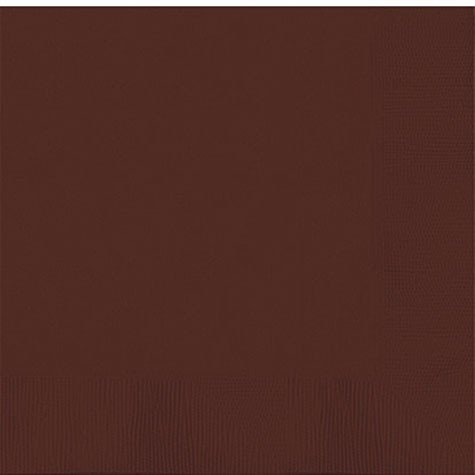 3 Ply Paper Lunch Napkins | 50ct (Chocolate Brown)