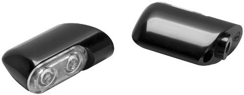 Arlen Ness 12-761 Black Bolt-On Turn Signal with Power LED Accent
