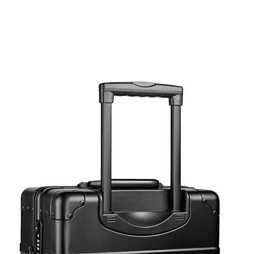 AZAWA Koffer mit TSA Schloss 4 Rollen Handgepäck in Schwarz (Schwarz ... 1bb0506e8e