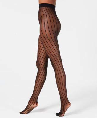 DKNY Women's Modern Lines Micronet Stripe Tight, black, S-M ()