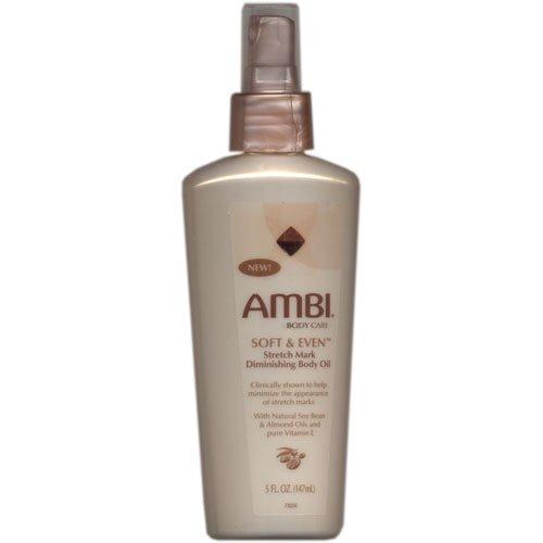 (Ambi Skincare Soft & Even Stretch Mark Diminishing Body Oil Spray, 5 oz )