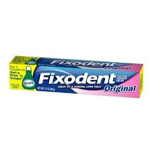 Fixodent Denture Adhesive Cream, Original 2.4-ounce Tubes (Pack of 2)