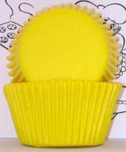 Golda's Kitchen 100 Count Solid Baking Cups, Mini, Yellow
