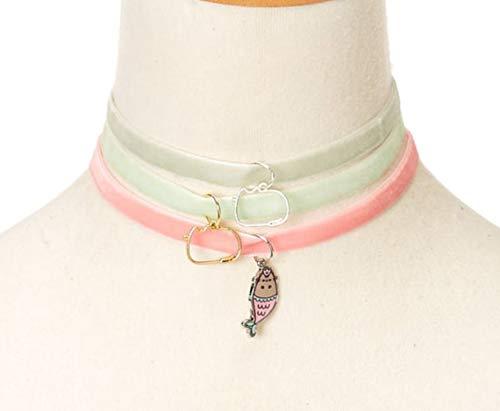 Pusheen Mermaid Tray Velvet Charm Choker Necklace Set by Pusheen (Image #3)