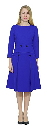Marycrafts Womens Classic Business Work Vintage Aline Midi Skirt Suit