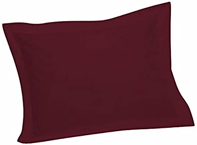 Crescent Tailored Comfy Easy Care Pillow Sham Standard (Burgundy)