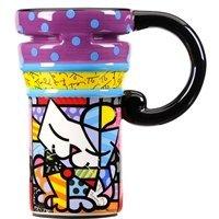 Romero Britto Travel Mug-Sugar Cat