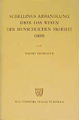 Schellings Abhandlung über das Wesen der menschlichen Freiheit 1809