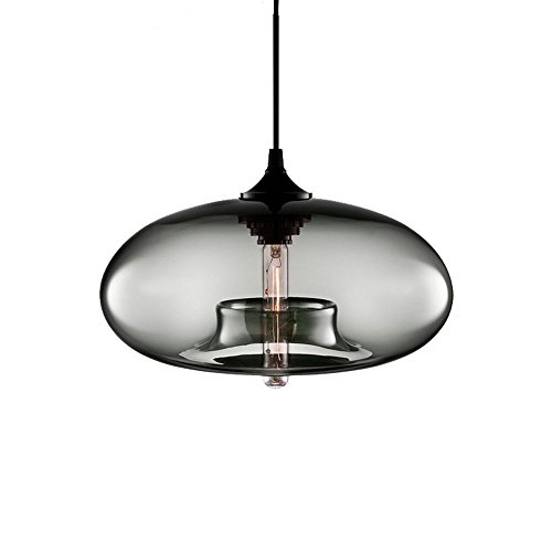 Cheap Ting-w E27 Industrial Vintage Chandelier LOFT Pendant Light Ceiling Lamp Color Glass Cage (Silver)